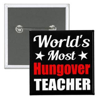 Consumición divertida del profesor más hungover