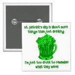 Consumición divertida del St Patricks del irlandés Pins