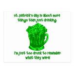 Consumición divertida del St Patricks del irlandés Tarjeta Postal