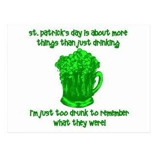 Consumición divertida del St Patricks del irlandés Tarjetas Postales