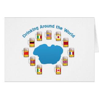 Consumición en todo el mundo tarjeta de felicitación