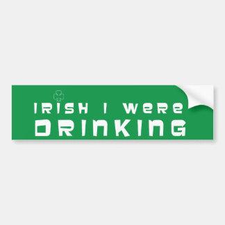 Consumición irlandesa etiqueta de parachoque