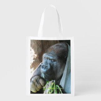 Consumición japonesa del gorila del ~ de la bolsas reutilizables