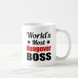 Consumición más hungover divertida de Boss Taza Clásica
