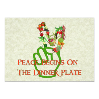 Consumición para la paz invitación 12,7 x 17,8 cm