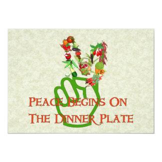 """Consumición para la paz invitación 5"""" x 7"""""""