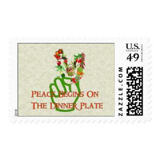 Consumición para la paz sellos postales