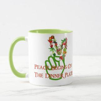 Consumición para la paz taza