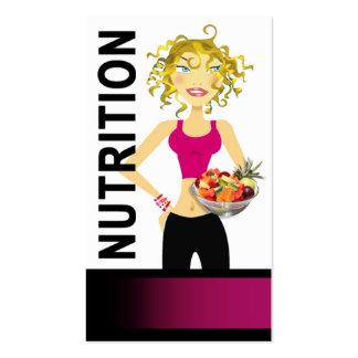 Consumición sana del encargado de la comida el die plantillas de tarjetas personales