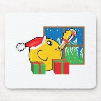 consumición y presentes del navidad alfombrilla de ratones