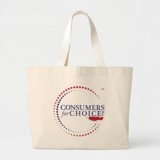 Consumidores para la opción bolsa tela grande