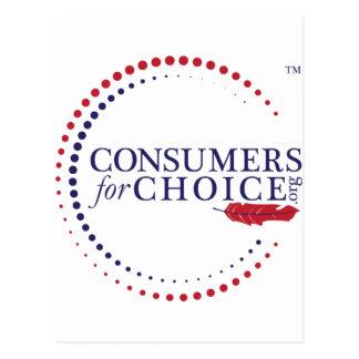 Consumidores para la opción tarjeta postal