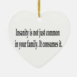 Consuming Insanity Double-Sided Heart Ceramic Christmas Ornament