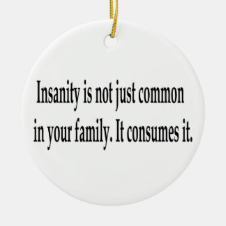 Consuming Insanity Double-Sided Ceramic Round Christmas Ornament