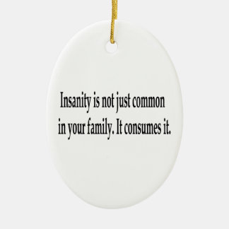 Consuming Insanity Double-Sided Oval Ceramic Christmas Ornament