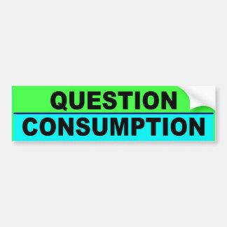 Consumo DE PARACHOQUES de la pregunta Pegatina De Parachoque