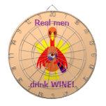 Consumo de vino de la acción de gracias Turquía Tabla Dardos