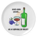 consumo de vino divertido platos para fiestas