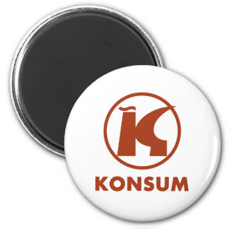 Consumption 2 Inch Round Magnet