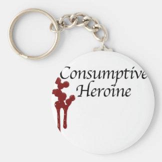 Consumptive Heroine Basic Round Button Keychain