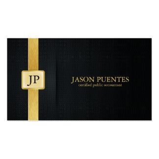 Contabilidad elegante del negro y del oro plantillas de tarjetas personales