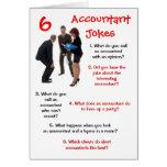 Contable - 6 chistes Bithday divertido del contabl Tarjeta
