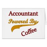 Contable accionado por el café tarjeta