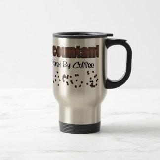 Contable accionado por el café taza de viaje
