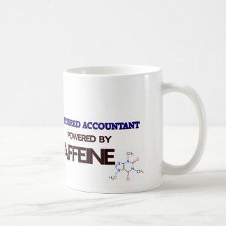Contable accionado por el cafeína taza
