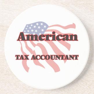 Contable americano del impuesto posavasos de arenisca