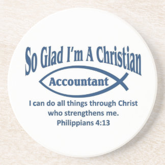 Contable cristiano posavasos para bebidas