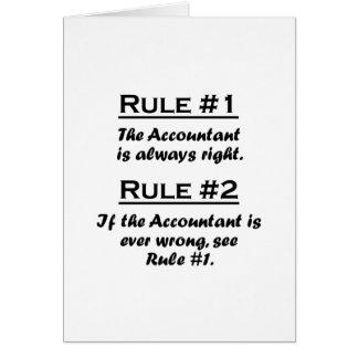 Contable de la regla tarjetas