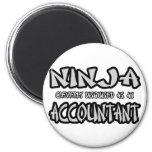 Contable de Ninja… Imán Para Frigorífico