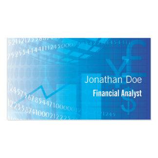 Contable del analista financiero plantilla de tarjeta de negocio