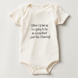 Contable del bebé… apenas como mamá/papá body para bebé