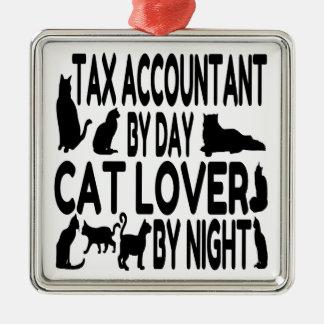 Contable del impuesto del amante del gato ornamentos para reyes magos