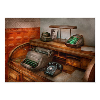 """Contable - máquina de escribir - la oficina de los invitación 5"""" x 7"""""""