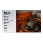 Contable - máquina de escribir - la oficina de los tarjeta de visita