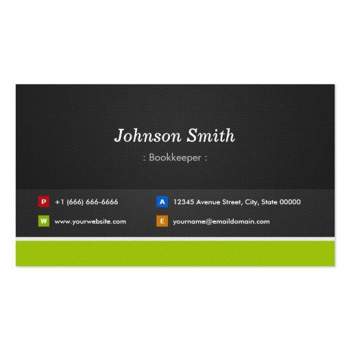 Contable - profesional y premio plantilla de tarjeta de negocio