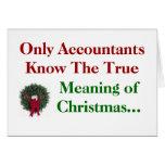 Contables. Significado del navidad - añada el subt Tarjetas