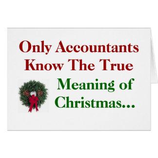 Contables. Significado del navidad - añada el Tarjeta De Felicitación