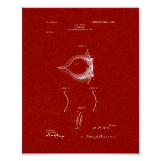 Contact Lense Patent - Burgundy Red Poster