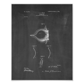 Contact Lense Patent - Chalkboard Poster
