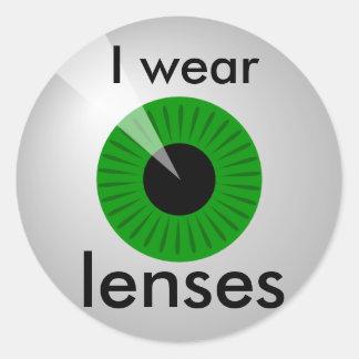 Contact lenses classic round sticker