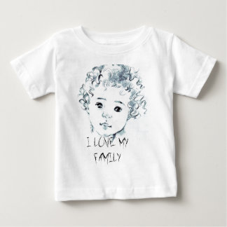 Contact me to create your portrait before ordering baby T-Shirt