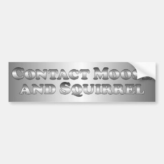 Contact Moose and Squirrel - Basic Car Bumper Sticker