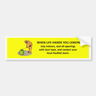 contact-your-local-hazmat-team bumper sticker