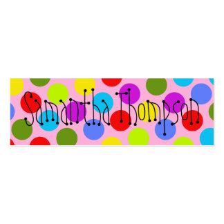 Contacto multicolor Info de los niños del punto Tarjetas De Visita Mini
