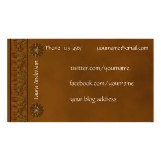 Contacto personal - color rico del otoño tarjetas de visita