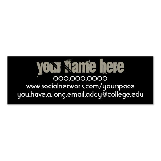 Contacto personal del ganso de lapa tarjetas de visita mini